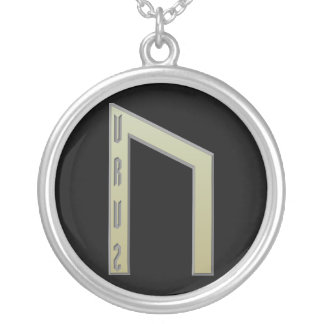 Uruz Rune gold Silver Plated Necklace
