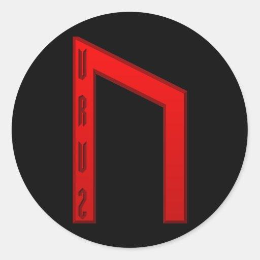Uruz Rune red Stickers