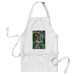 Ury impressionist painting morning sun landscape adult apron