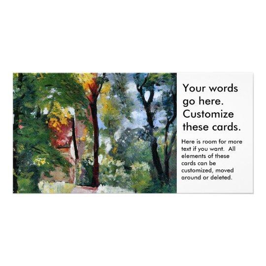 Ury impressionist painting morning sun landscape card