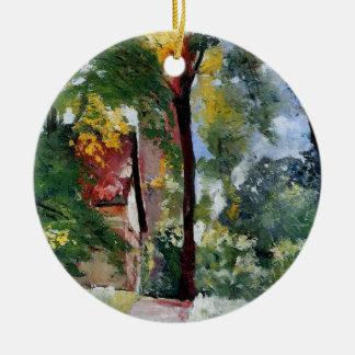 Ury impressionist painting morning sun landscape ceramic ornament