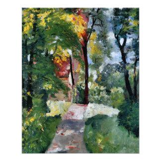 Ury impressionist painting morning sun landscape flyer