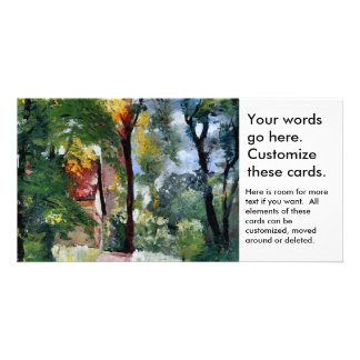 Ury impressionist painting morning sun landscape photo card template