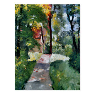 Ury impressionist painting morning sun landscape postcard