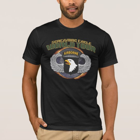 """US 101ST AIRBORNE """"SCREAMING EAGLES"""" WORLD TOUR A T-Shirt"""