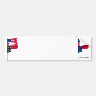 US 13-star flag on pole with North Carolina Bumper Stickers