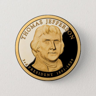 US $1 Coin Proof Thomas Jefferson Button