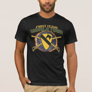 US 1ST CAVALRY DIVISION WORLD TOUR FLAME T-Shirt