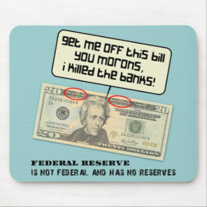US 20 dollar bill Federal Reserve Mouse Pad