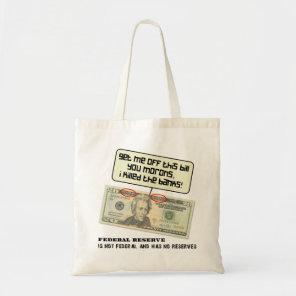 US 20 dollar bill Federal Reserve Tote Bag