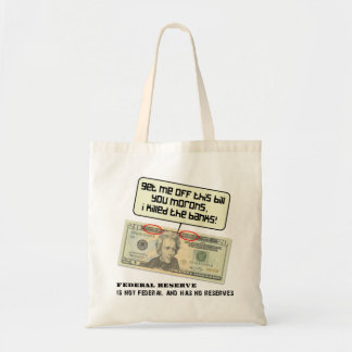 US 20 dollar bill Federal Reserve Tote Bag