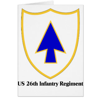 US 26th Infantry Regiment Greeting Card