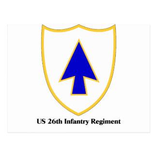 US 26th Infantry Regiment Postcard