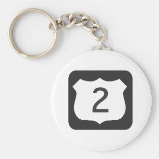 US-2 Scenic Highway Keychain