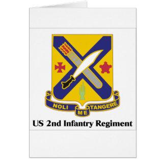 US 2nd Infantry Regiment Greeting Card