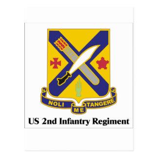 US 2nd Infantry Regiment Postcard