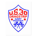 us 30 dragstrip post card