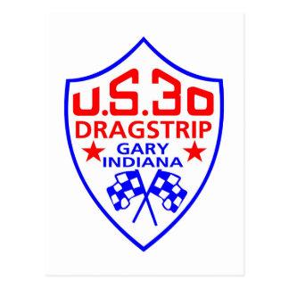 us 30 dragstrip postcard