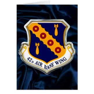 US 42d Air Base Wing Card