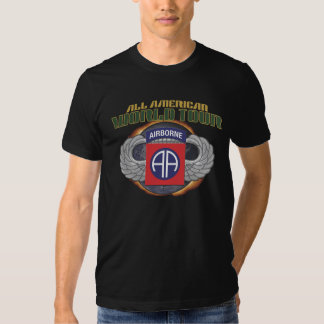 """US 82ND AIRBORNE DIV. """"ALL AMERICAN"""" WORLD TOUR AA T-SHIRT"""