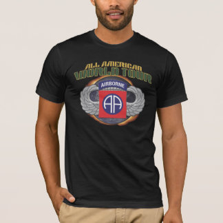 "US 82ND AIRBORNE DIV. ""ALL AMERICAN"" WORLD TOUR AA T-Shirt"