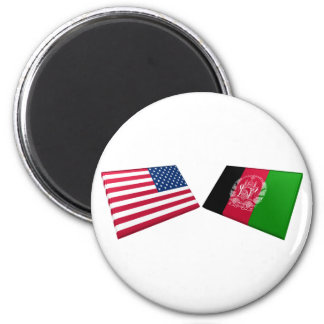 US & Afghanistan Flags Magnets