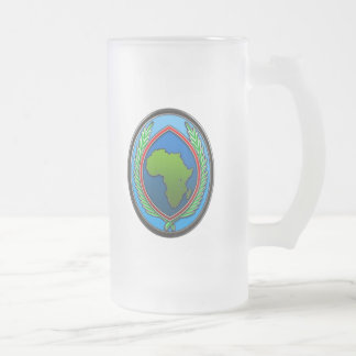 US Africa Command Frosted Glass Beer Mug
