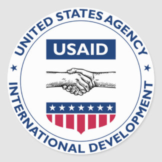 US AID Agency for International Development Classic Round Sticker