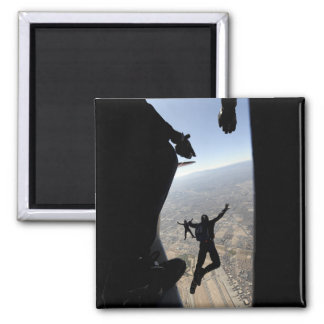 US Air Force Academy Parachute Team 2 Inch Square Magnet