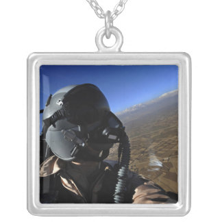 US Air Force Aerial Combat Photographer Silver Plated Necklace