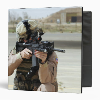 US Air Force Airman conducts security Binder