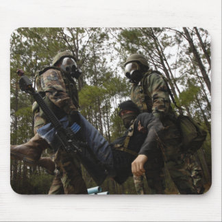 US Air Force Airmen carry a simulated casualty Mouse Pad