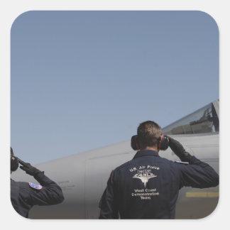 US Air Force Airmen Square Sticker
