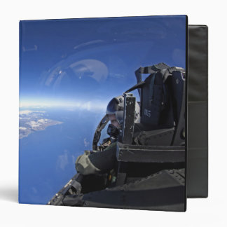 US Air Force captain looks out over the sky 3 Ring Binder