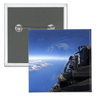 US Air Force captain looks out over the sky Pinback Button