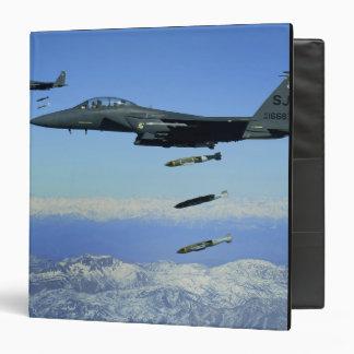 US Air Force F-15E Strike Eagle aircraft Binder