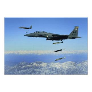 US Air Force F-15E Strike Eagle aircraft Art Photo