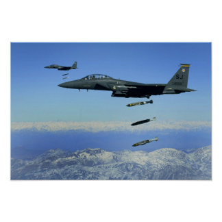 US Air Force F-15E Strike Eagle aircraft Poster