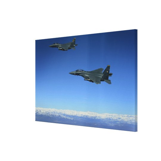 US Air Force F-15E Strike Eagles 2 Canvas Print