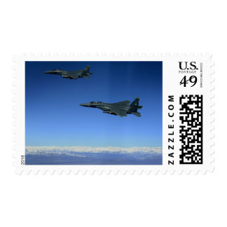 US Air Force F-15E Strike Eagles 2 Postage Stamp