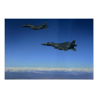 US Air Force F-15E Strike Eagles 2 Poster