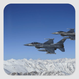 US Air Force F-16 Fighting Falcons Square Sticker