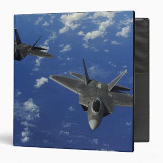 US Air Force F-22 Raptors in flight near Guam 3 Ring Binder