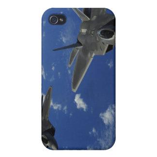 US Air Force F-22 Raptors in flight near Guam iPhone 4 Case