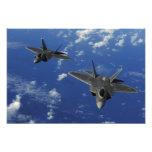 US Air Force F-22 Raptors in flight near Guam Photo Print
