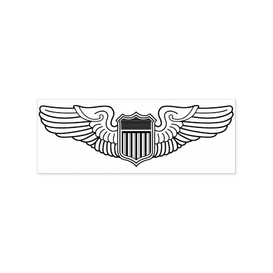 us air force pilot wings crafting rubber stamp zazzle com