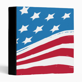 US America Flag 2 Binder