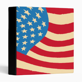 US America Flag Binder