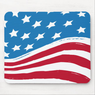 US America Flag Mouse Pad