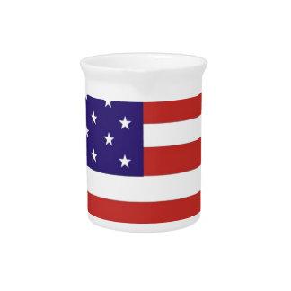 US America Flag Drink Pitcher